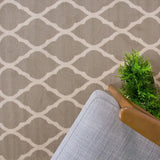 Grey & White Trellis Rug