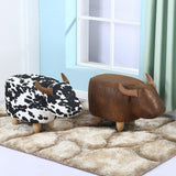 Faux Leather Animal Stool