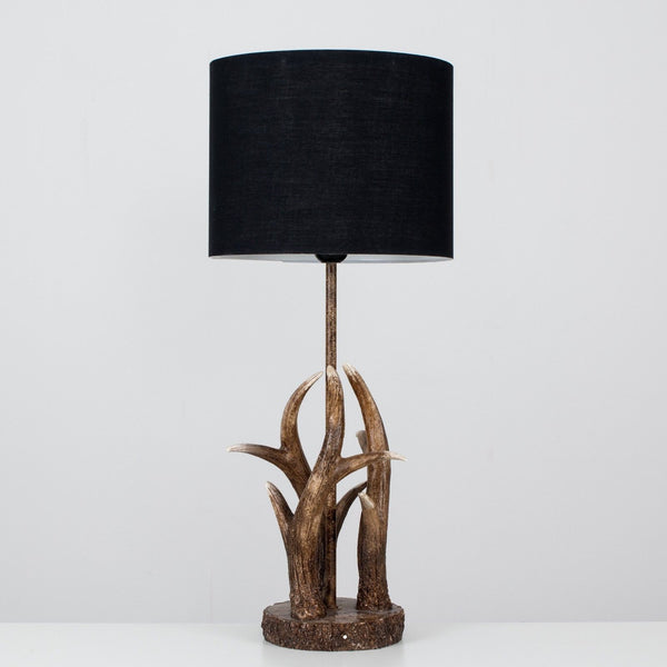 Antler Designer Lamp with Cotton Lampshades
