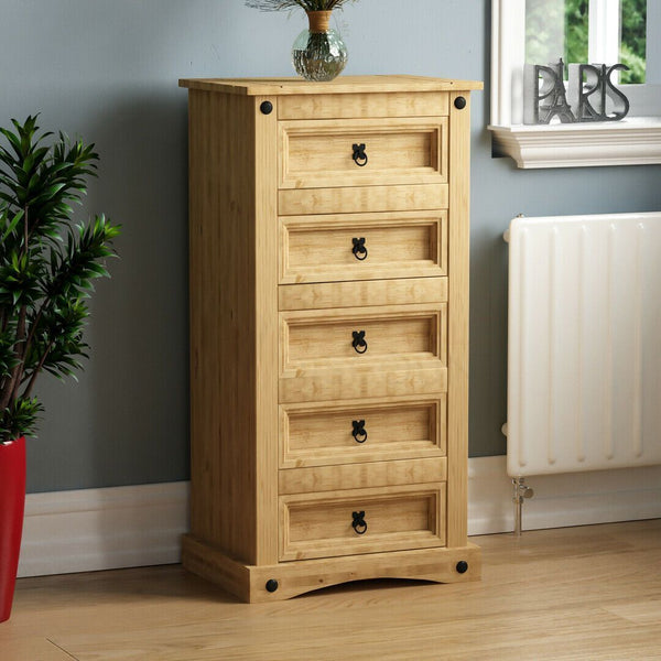 Solid Pine Wood Chest of Drawers