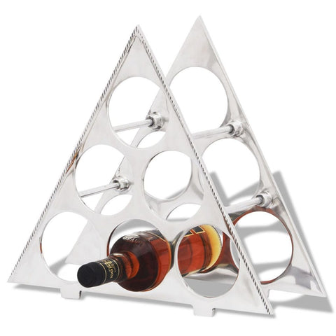 Triangular Silver Wine Rack