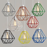 Retro Wired Frame Ceiling Light