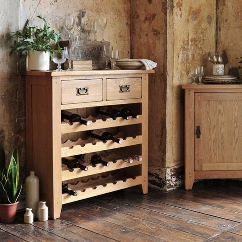 Solid Oak Wine Rack