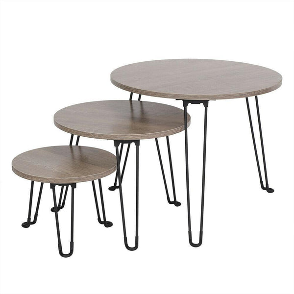 Set Of 3 Nest Wooden Coffee Tables