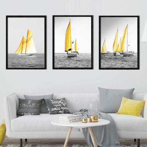 3pc Sailing Print Set