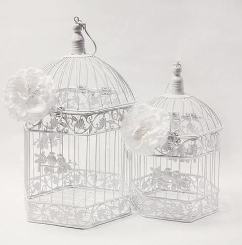 Pair of Vintage Hexagon Birdcages