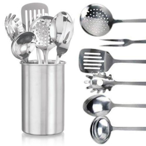 7 Piece Stainless Steel Kitchen Utensil Set