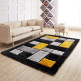 3D Shaggy Coloured Square Rug