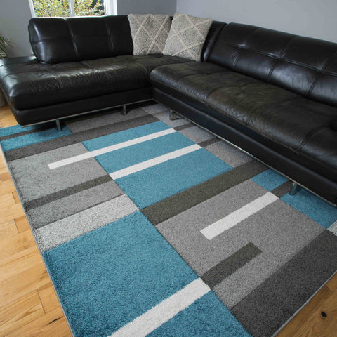 Blue/Grey Oslo rug