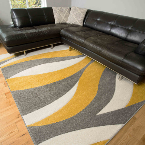 Yellow Grey Lisbon rug