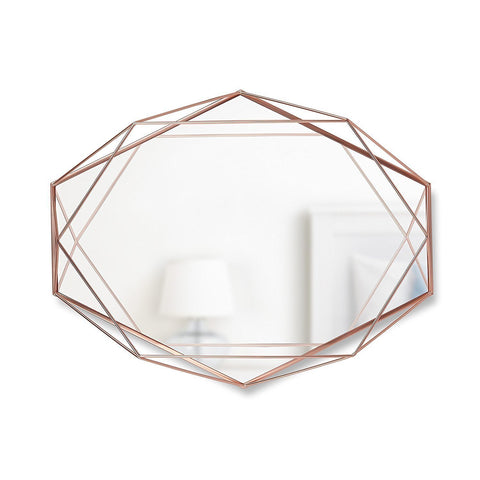 Prism Wall Mirror With A Stylish Metal Casing