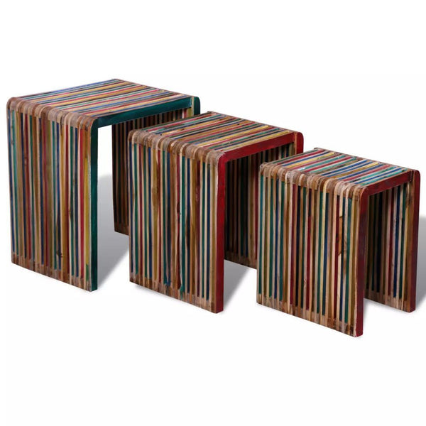 Set of 3 Colourful Nesting Tables