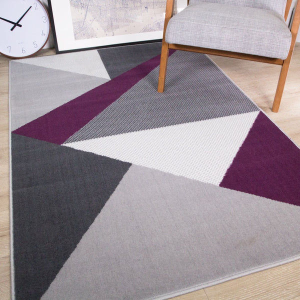 Purple Abstract Rug