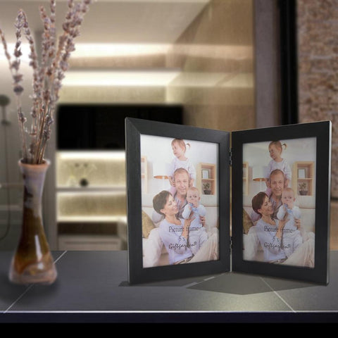 "Vertical Double Photo Frame - 7"" x 5"""