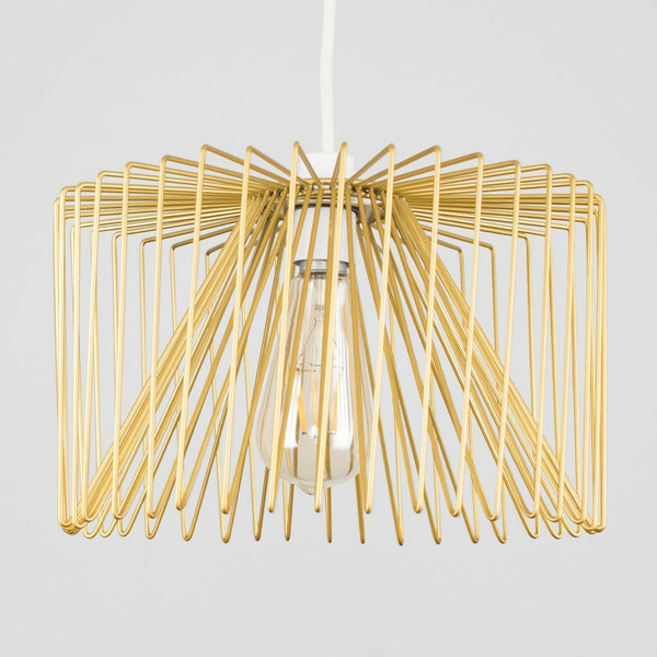 Gold Pendant Wire Ceiling Light