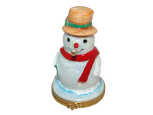 Load image into Gallery viewer, SKU# 3652 - Snowman w/gold pipe