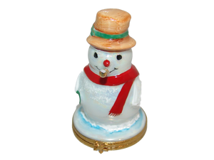 SKU# 3652 - Snowman w/gold pipe