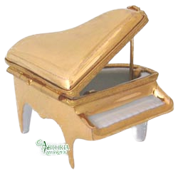 SKU# 3666 - Gold Mini Piano