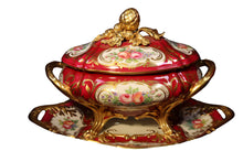 "Load image into Gallery viewer, SKU# 4546 Large Soup Tureen ""Marquise de Pompadour"""