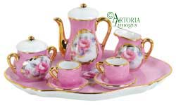 SKU# 4760 - Mini Tea Set: Pink