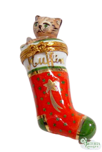 Load image into Gallery viewer, SKU# 6317 - Stocking W/ Kitten - Muffin