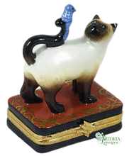 Load image into Gallery viewer, SKU# 7616 - Siamese Cat With Blue Bird