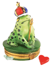 Load image into Gallery viewer, SKU# 7735 - Frog With Blue and Red Crown