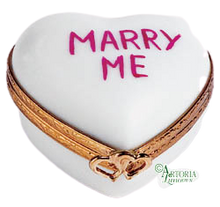 Load image into Gallery viewer, SKU# 7792 - Heart *Marry Me* White