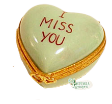Load image into Gallery viewer, SKU# 7793 - Heart *I Miss You* Green