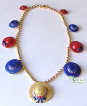 Load image into Gallery viewer, SKU# 8900 - Hat Necklace: Red & Blue