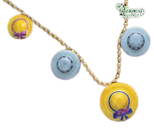Load image into Gallery viewer, SKU# 8902 - Hat Necklace: Yellow & Gray