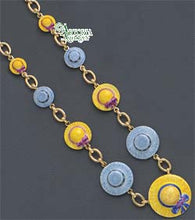 Load image into Gallery viewer, SKU# 8905 - Hat Necklace: Yellow & Gray