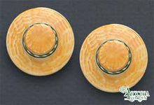 Load image into Gallery viewer, SKU# 8907 - Men's Hat Earrings: Yellow - Clip On