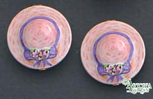 Load image into Gallery viewer, SKU# 8913 - Women's Hat Earrings: Pink - Clip On