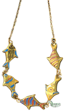 Load image into Gallery viewer, SKU# 8933 - Swimming Fish Necklace