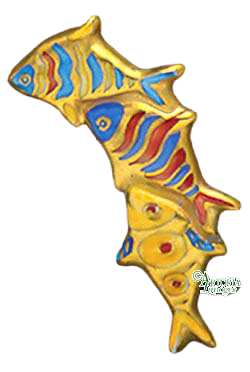 SKU# 8936 - 3 Fish Brooch