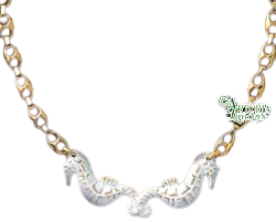 SKU# 8945 - Sea Horse Necklace: White