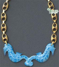Load image into Gallery viewer, SKU# 8947 - Sea Horse Necklace: Blue