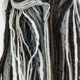 Soft Shetland Wool Farm Raised Handspun Self Striping 3 ply chain plied Low Micron Yarn 161 yards 2.7 oz