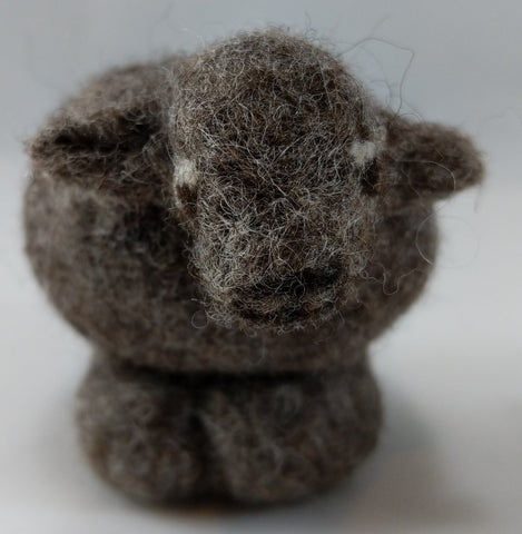 Needle Felting Sheep kit - #13 Grey