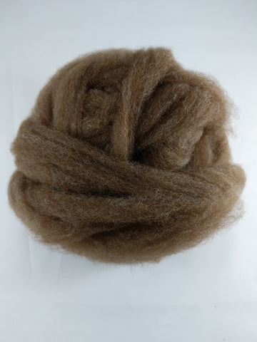 1 oz Soft Shetland Combed Top - Brown