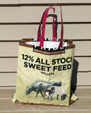 Market Carryall made from Recycled Feed Bags - Sweetfeed