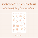 Watercolour Collection - Orange Flowers