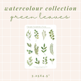 Watercolour Collection - Green Leaves