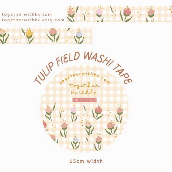Tulip Field 15mm Washi Tape