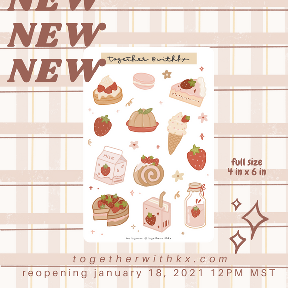 Strawberry Goodies Sticker Sheet