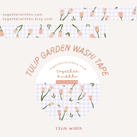 Tulip Garden 15mm Washi Tape