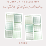 Monthly Trackers/Calendar - Journal Kit