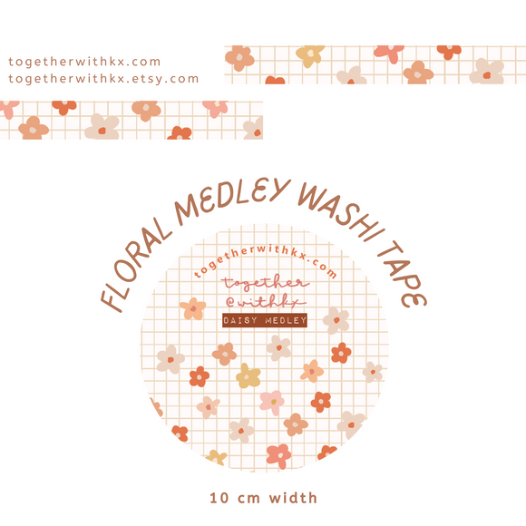 Flower Medley 10mm Washi Tape