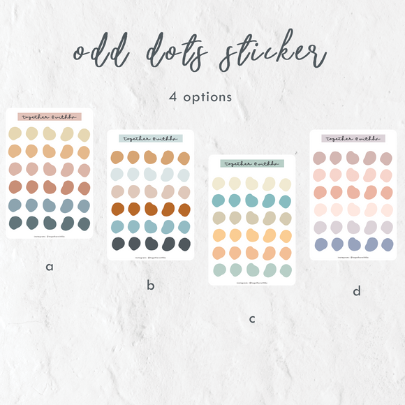 Odd Dots Circle Sticker Sheets (4 options)